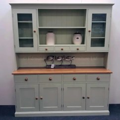 Kitchen Dresser White Aid Plain Painted 6ft Edmunds Clarke Furniture Ltd With Spice Racks Oak Top And Matching Knobs