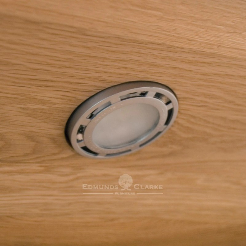 Image of close up of LED light for Oak Cabinets