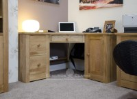 Woodbridge Oak Corner Computer Desk - Edmunds and Clarke ...