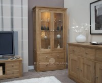 Woodbridge Oak Glass Display Unit - Edmunds and Clarke ...