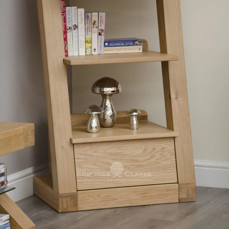 Z1DNBC Narrow solid oak bookcase Z style