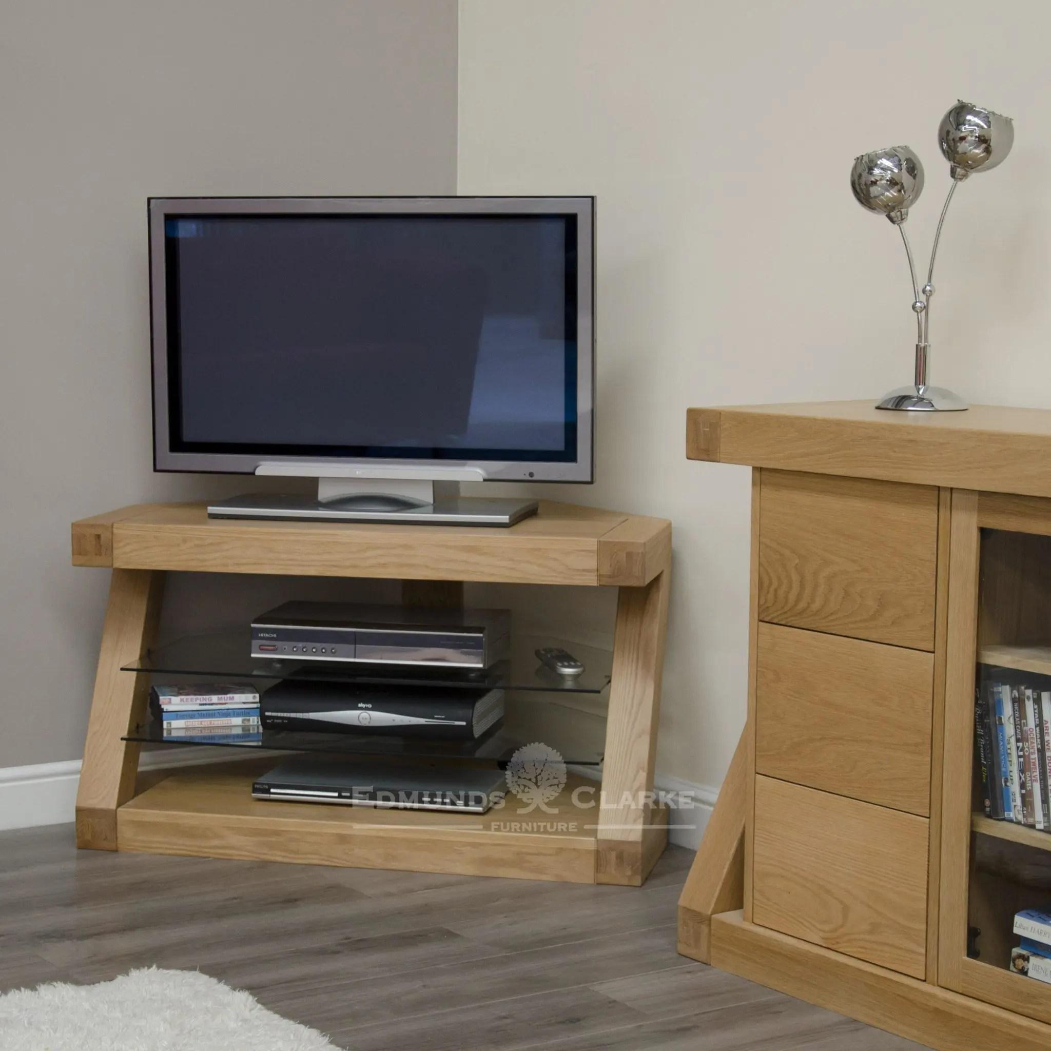 buy online 78320 9fd59 Z Designer Solid Oak Corner TV Unit