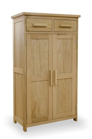 Bury solid oak shoe cupboard.