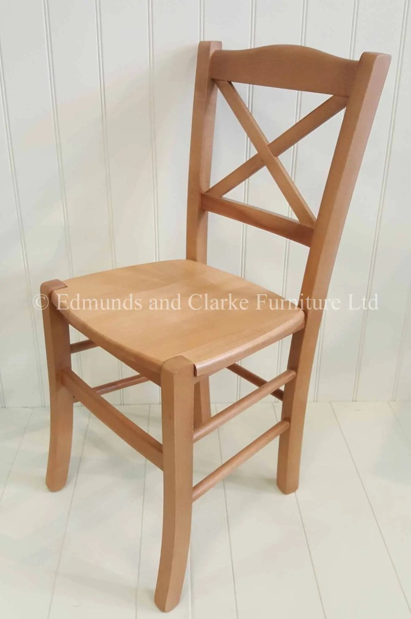 Edmunds Cross Back Dining Chair. finished in waxy lacquer