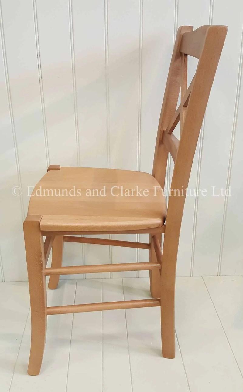 Light weight cross back dining chair