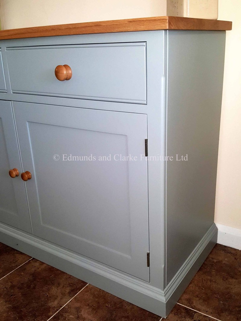 8' painted sideboard with solid oak top