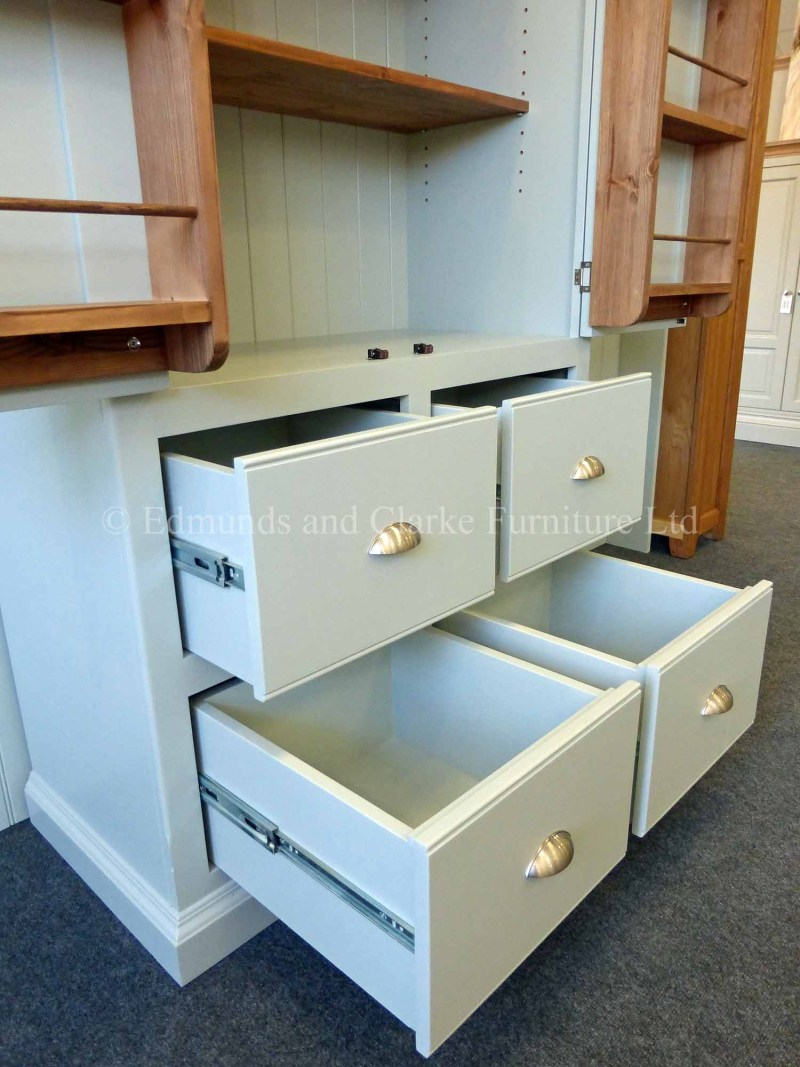 Edmunds larder cupboard with pan drawers spice racks and shelving