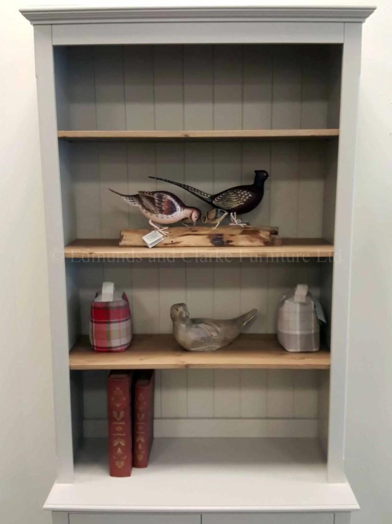 Edmunds adjustable shelf library bookcase with two door cupboard below