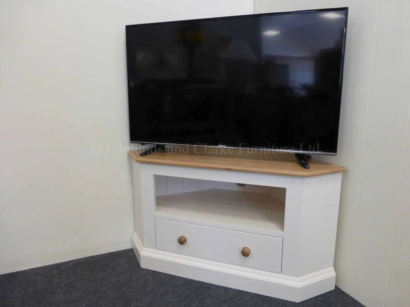 Edmunds painted standard corner tv unit, choice of colours and top available