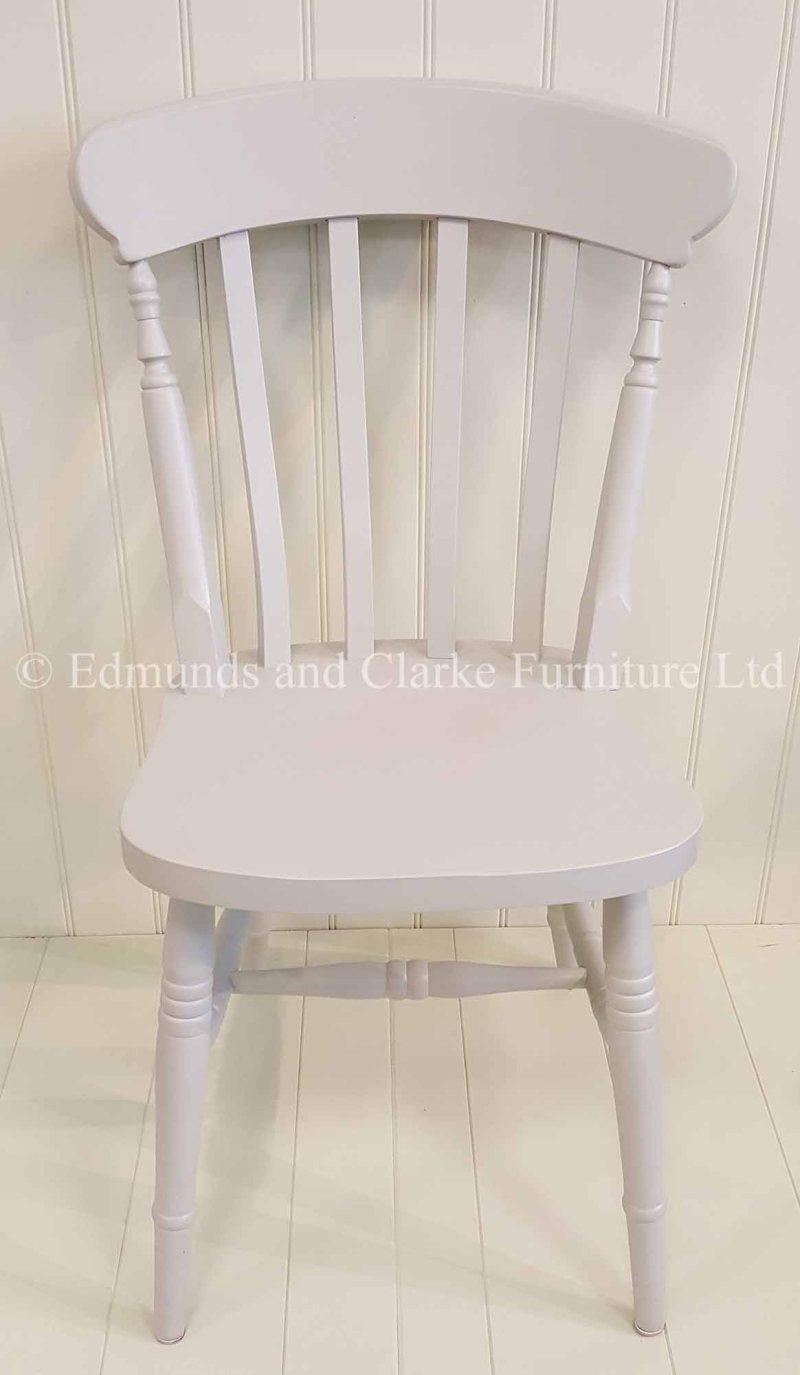 Farmhouse painted slat chair, choice of colours