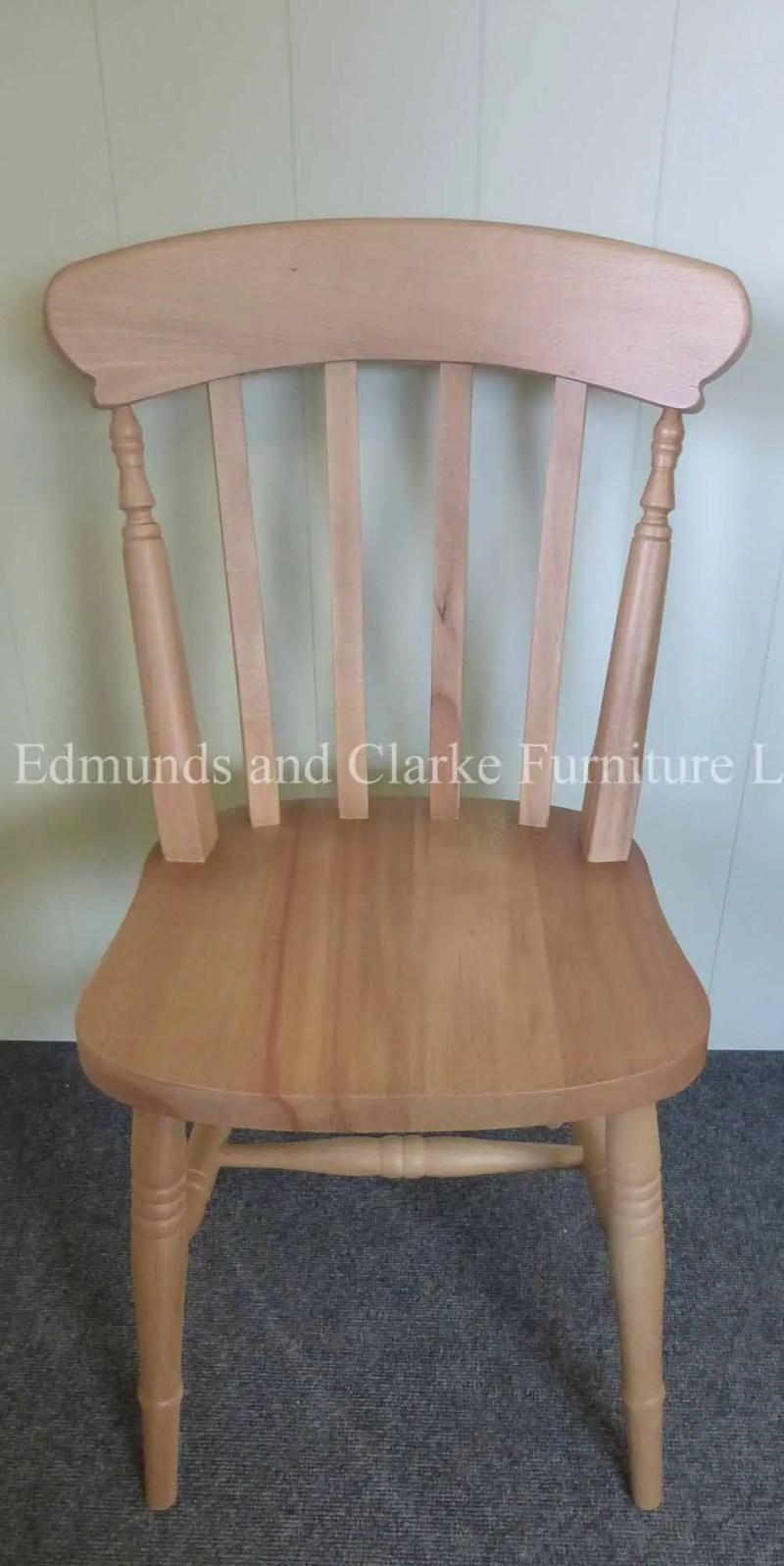 High back farmhouse slat chair