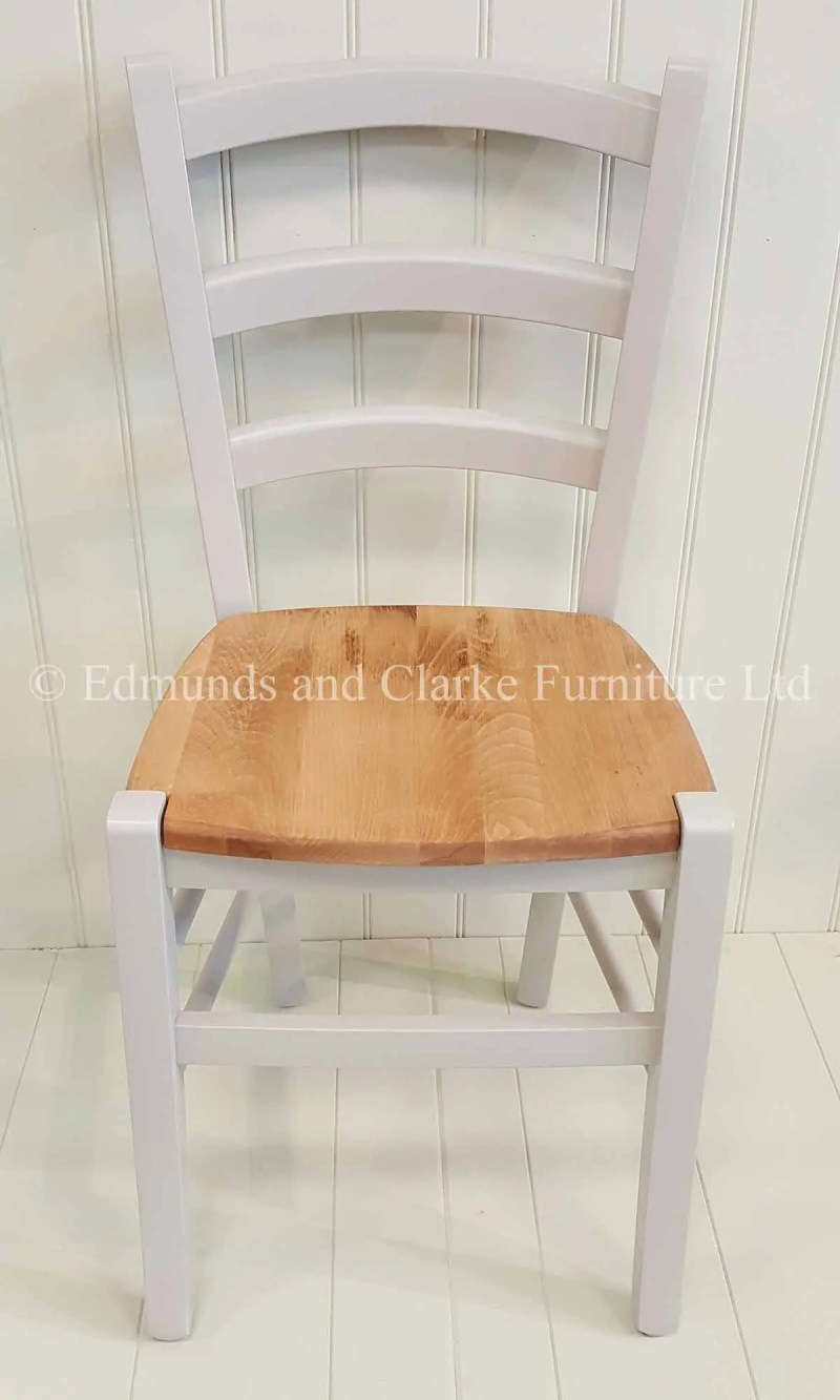 Painted liege dining chair lightweight