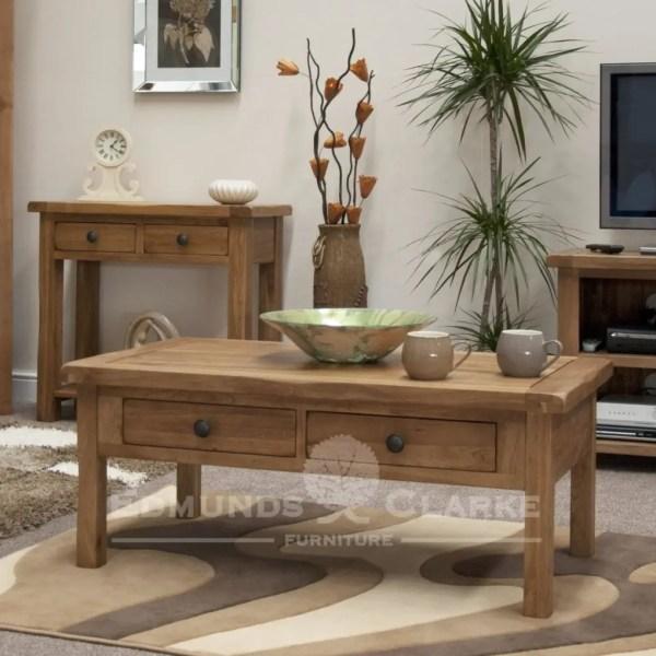 Lavenham rustic oak living room set