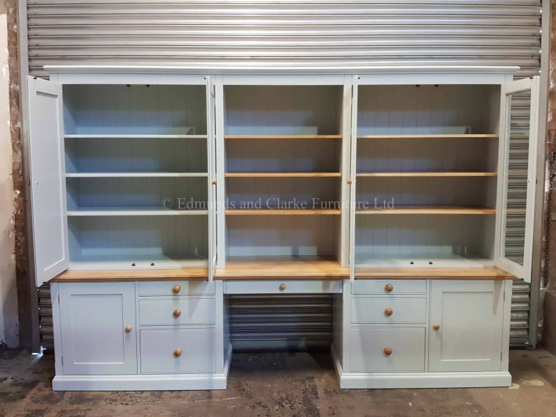 Workstation made to measure with foolscap filing drawers, pull out slides and adjustable shelves