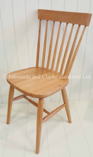 Edmunds Nordic Oak Dining Chair. thin slat back. Farmhouse style