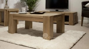 4' x 2' Newmarket solid oak chunky coffee table
