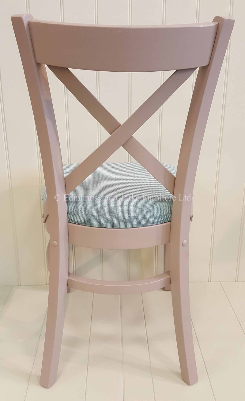 Edmunds oxford dining chair painted with choice of seat pads