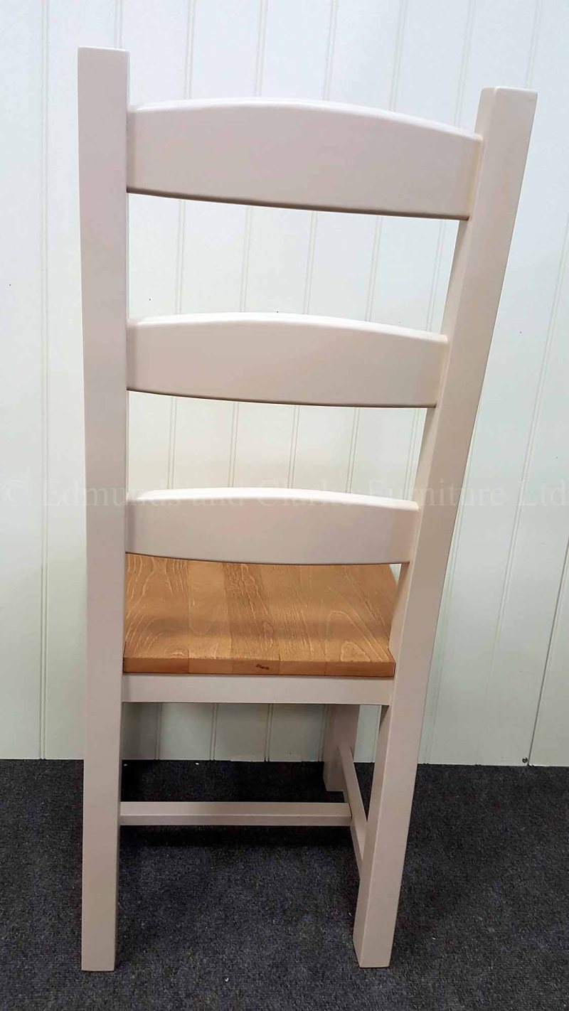 Painted amish chair with wooden seat available in a choice of paint colours
