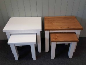 Edmunds Painted Nest Of two Tables. painted all over or with oak top. 10 colours available