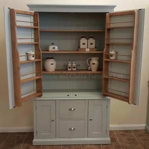 Edmunds Painted Wide Larder Cupboard . choice of colours and handle options