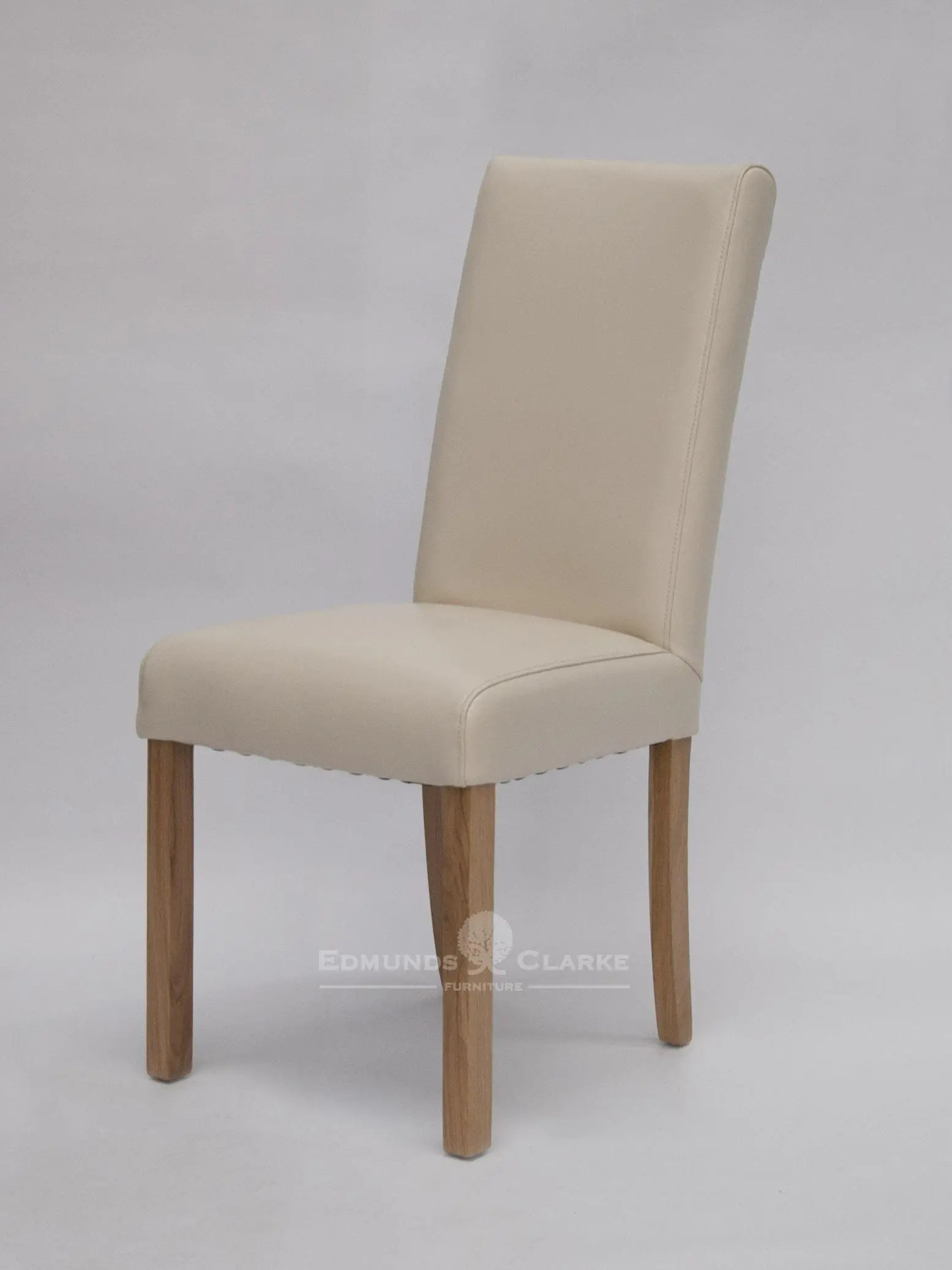 Beige Leather Dining Chairs Marianna Ivory Bycast Leather Dining Chair