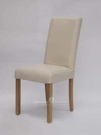 Marianna Ivory Bycast Leather Dining Chair | Edmunds ...
