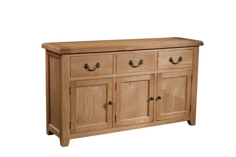 SOM053 Somerset oak 3 door 3 drawer sideboard