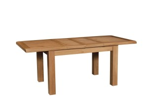 SOM094 Somerset oak dining table with two extensions
