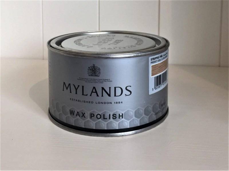 Tin of Mylands Stripped Pine Wax Polish
