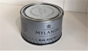 Tin of Mylands Clear Wax Polish