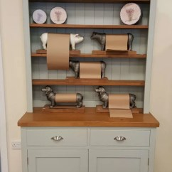 Kitchen Dresser Modern White Gloss Cabinets To Clear Edmunds Small Painted Open Hutch With Rough Sawn Pine Top And Shelves Two Drawers