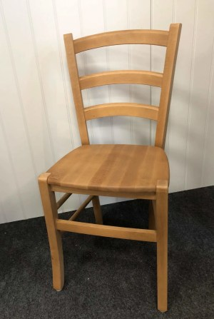Small Kitchen Chairs-Pine waxy lacquer dining chair - leige small dining chair clearance