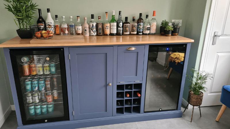 drinks cabinet bespoke slide