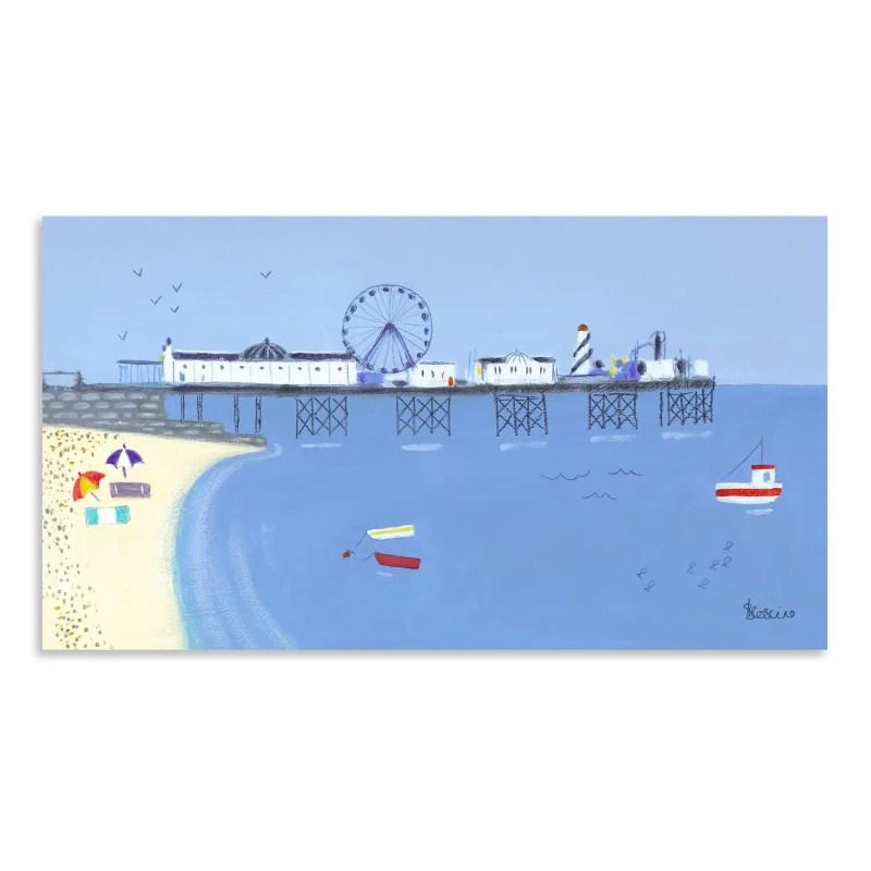 AC1439 Art marketing fairground attraction small canvas print of sea side fairground