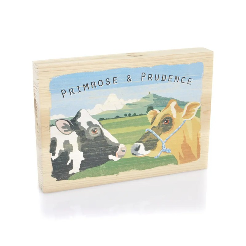 AP2083 Art Marketing Primrose and prudence wood picture