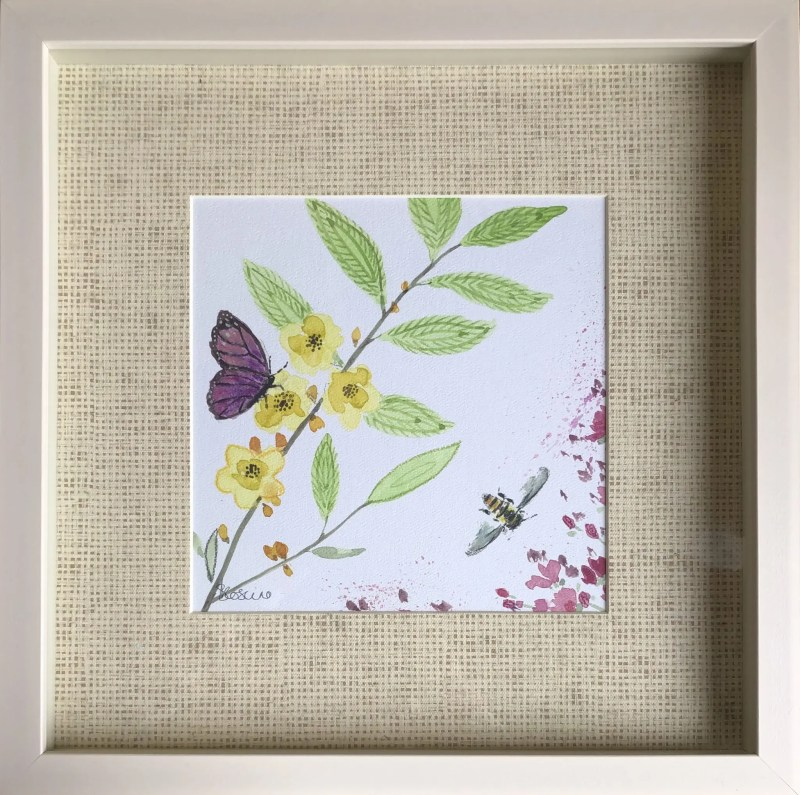 Garden whisper framed art by sabrina roscino