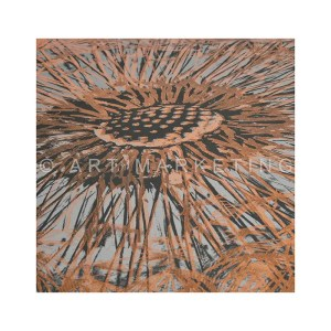 AC1367 copper dandelion canvas