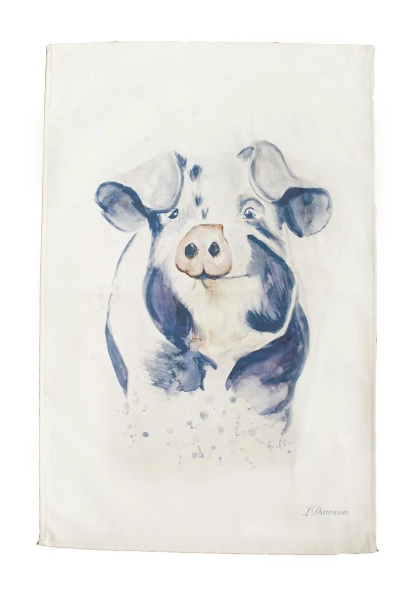 Bella Art Tea Towel - Percy Pig