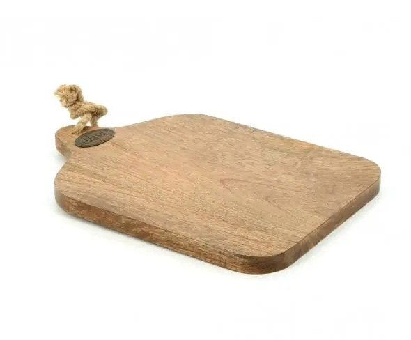country kitchen cheese board with rope handle 781206
