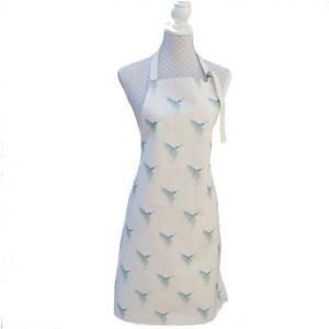 Bella Art kingfisher apron by lucy dawson
