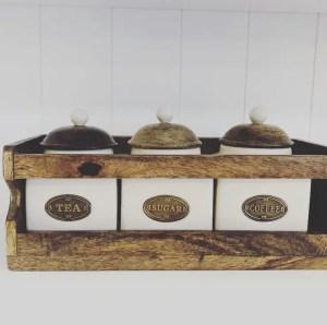 Country Kitchen Tea, Coffee & sugar Rack