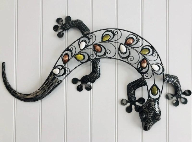 Gecko metal wall art