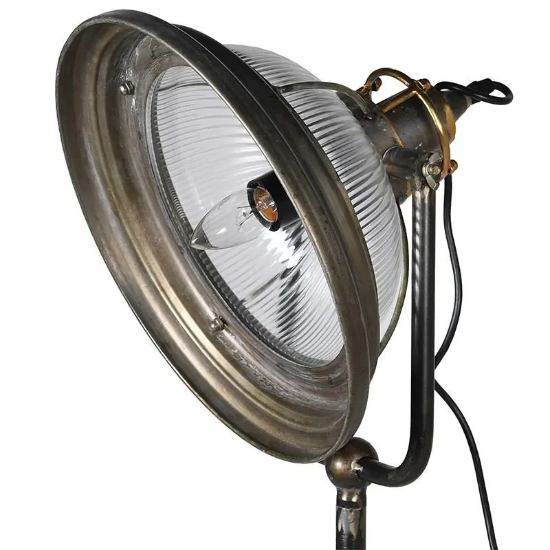 Industrial floor lamp close up