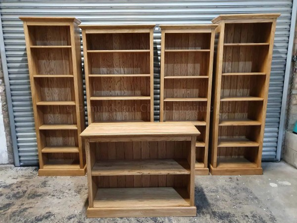 Solid oak made to measure bookcases