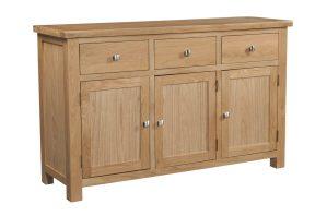 DOR052 Dorset oak 3 door sideboard