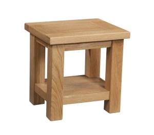 Dorset Oak lamp table with shelf under
