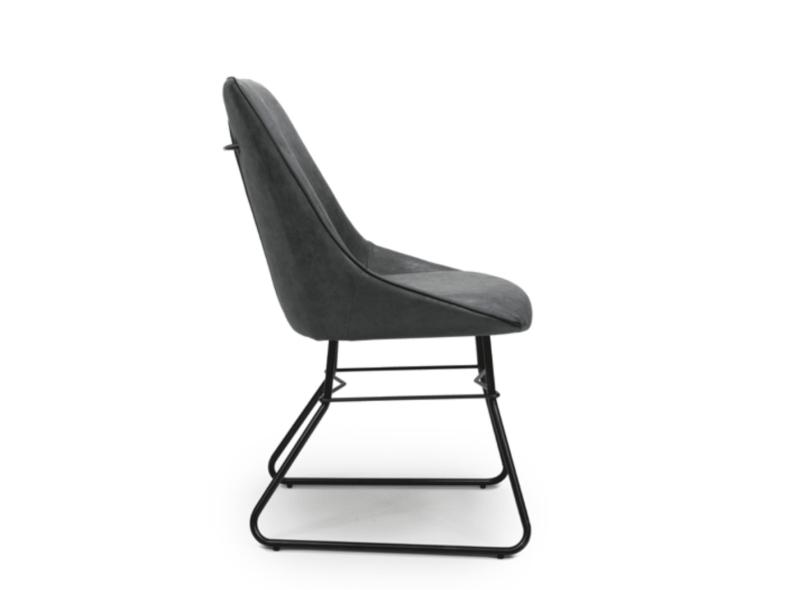 Cooper chair wax grey side