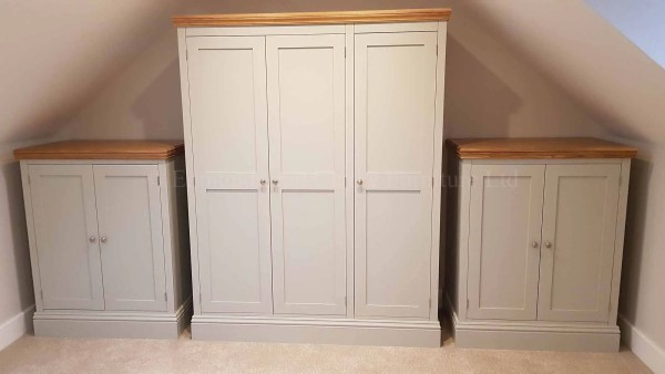 free standing wardrobes, built for sloping eaves in bedroom