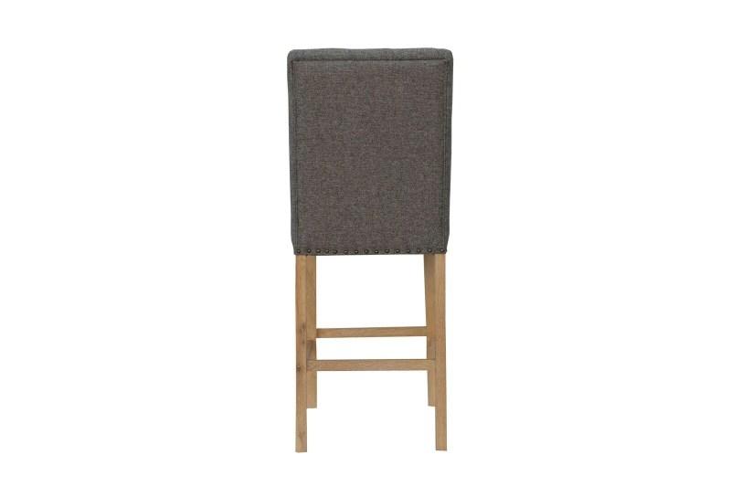 Cavendish button back stool dark grey
