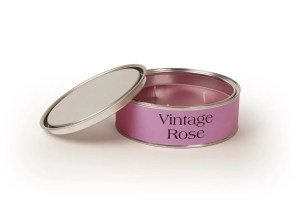 Pintail Candles Vintage Rose Large Triple Wick Candle in a Pink Tin